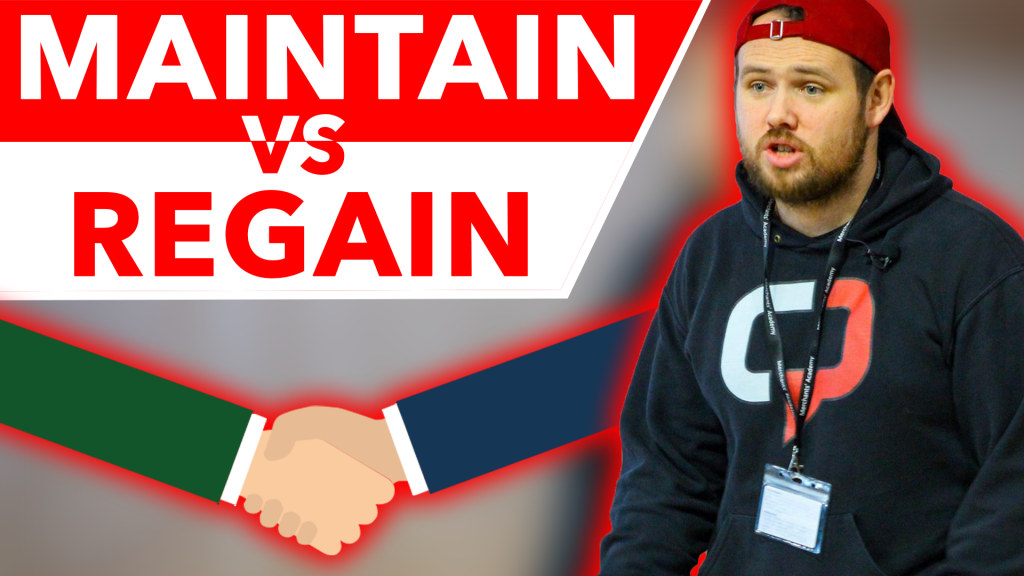 Maintain vs Regain Motivational Video - For Teenagers